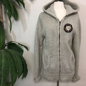 Abercrombie & Fitch Gray Wool Blend Hoodie Sweater